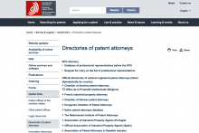 Directories of patent attorneys